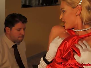 Domina torments sub with vibrator