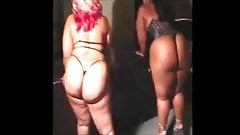 Two black sexy bbw stripers popping that ass!