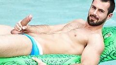 Brock Cooper poolside