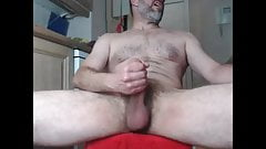JACKING OFF THE BIG THICK UNCUT PENIS