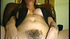 horny woman gets fucked through
