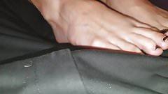 Foot tease from escort friend