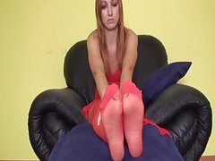 Nylon Girls Foot Play
