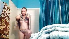Redhead not sister hidden cam shower