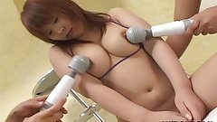 Hot and bothered Asian slut getting her pussy toyed