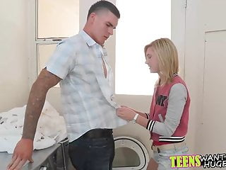 Pretty Blonde Teen Chloe Brooke Has A Huge Crush On Clover
