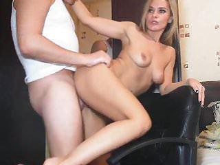 Pretty Sexy Babe Sucks Cock and Got Fucked Hard