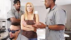 Anal Slut Cougar Erica Lauren Interracial Gangbang