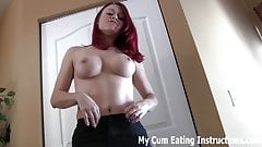 Cum for me twice and eat both loads