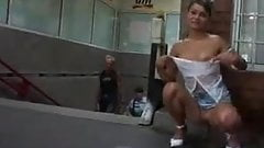 Sexy public babe
