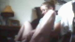 Girlfriend Cums with Dildo on Floor - Hidden Cam