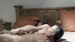 Short Haired Mature Stroking Cock and Fucking with Hubby