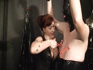 German Redhead Mistress Trains New Slave To The Whip Part