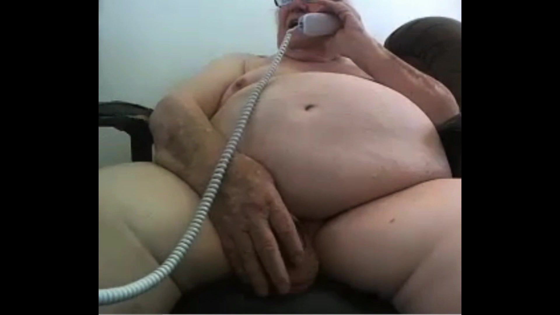 grandpa present on webcam