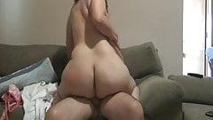 BBW rides old cock 'til she cums.