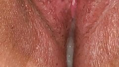 Using my magic wand as hubbys hot cum slowly leaks out's Thumb