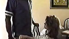 Wife plays with hubby's black buddy behind his back