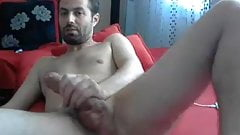 The big dick hunk masturbating