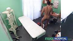 FakeHospital Kinky nurse helps patient ejaculate by blowjob