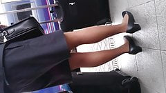 Pantyhose air hostess video 2