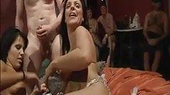 British amateur group sex party