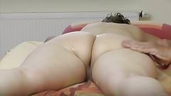 Intense big butt and pussy massage