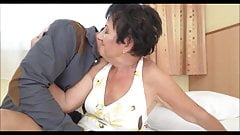Gran gets fucked, rims young stud and takes a facial's Thumb