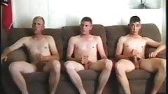 Three marines jack off on cam