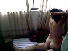 Spying on Roommate Getting Fucked by His GF