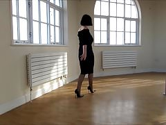 tight skirt pantyhose high heels 1
