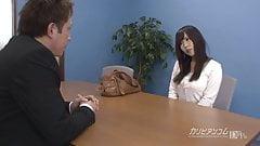 Job interview leads sucking a