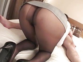 Mai Asahina Takes On A Thick Dick In Her Pantyhose Riding It