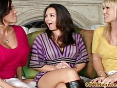 Classy femdom demands anal in cfnm group