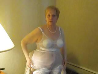 Aunt Sue undresses for intercourse