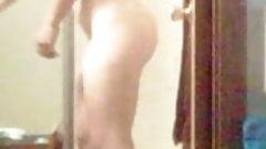 Unaware wife caught nude again 3