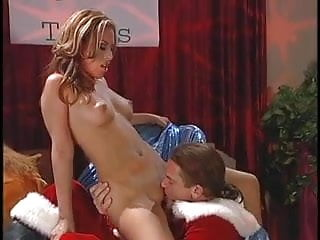 Santa has wild threesome with two innocent buxom brunettes