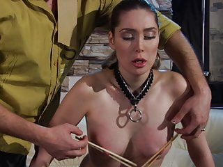 Cruel Master Trains His Slave Girl