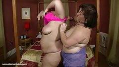 Big Tit  BBW Lesbians Lick Bellys, Boobs and Booty