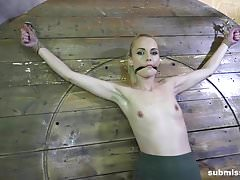 Submissed.com Struggling Roxy Lee whipped vibed and dildo'd