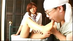 Asian Feet and Handjob