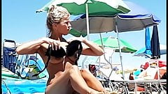 HOT topless MILF at Jesolo beach, Italy
