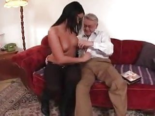 cute brunette loved by sex careful daddy