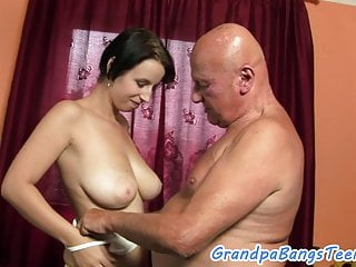 Hugetits Teen Pleasures Grandpas Cock