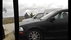 Car park upskirt pussy show.fl