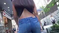 Hermoso culo en jeans ajustados