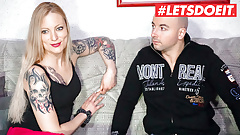 LETSDOEIT - Shy German Couple First Time Sex On Camera