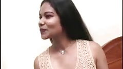 Beautiful Indian girl tries to