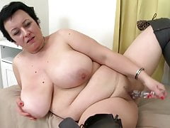 Super sized mother with big tits and hungry cunt