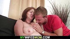 Big boobs old motherinlaw taboo cock riding
