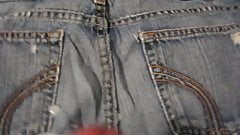 Blowing a load on some of my girls favorite jeans